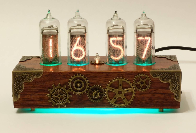 Часы на индикаторных лампах своими руками